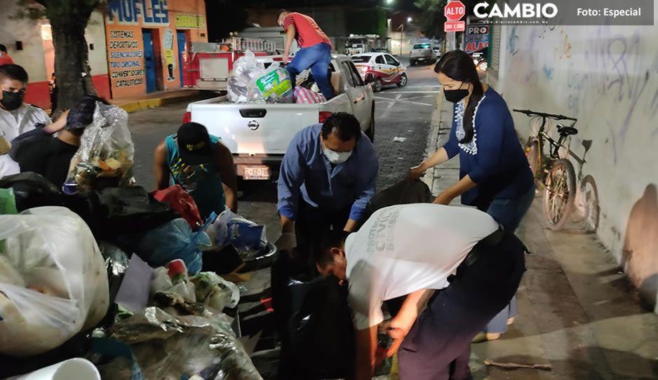 Entre montones de basura; así viven en Tehuacán tras bloqueo del relleno sanitario