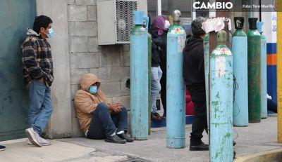 En sucursales de Infra y Praxair en Puebla ya no hay tanques de oxígeno,  sólo recarga (VIDEO)