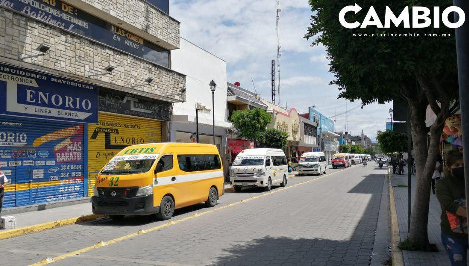 Ruta 5A enoja a concesionarios de Tehuacán