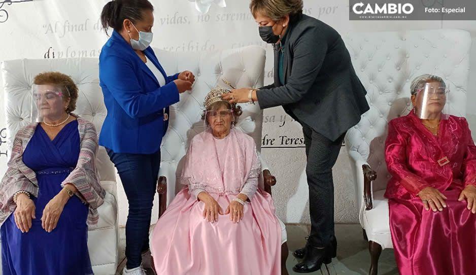 ¡Felicidades! Alvarita I es la reina de los abuelitos en Teziutlán