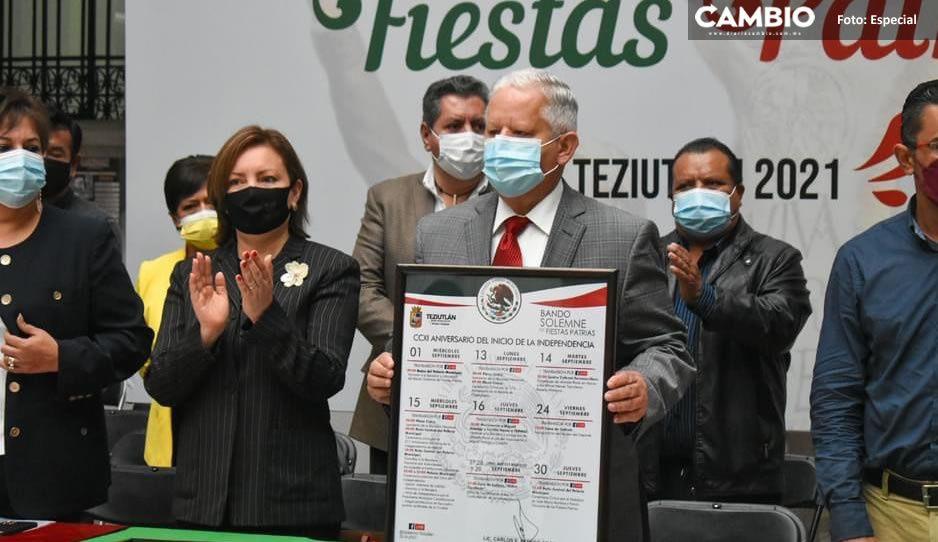 Carlos Peredo publicó Bando Solemne de Fiestas Patrias 2021 en Teziutlán