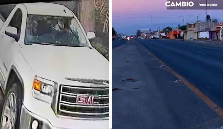 ¡Cómo de película! Habitantes de los Reyes de Juárez frustran robo de camioneta tras intensa persecución