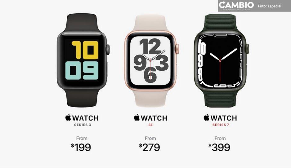 ¡Aquí lo tienes! El nuevo Apple Watch Series 7; costará más de 7 mil pesos