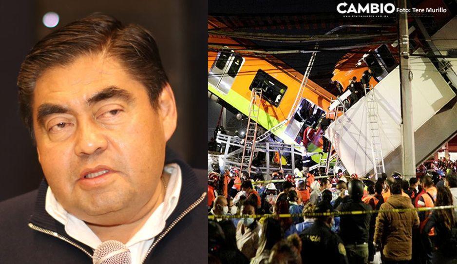 Barbosa envía condolencias a familiares de fallecidos en colapso de la Línea 12 del Metro