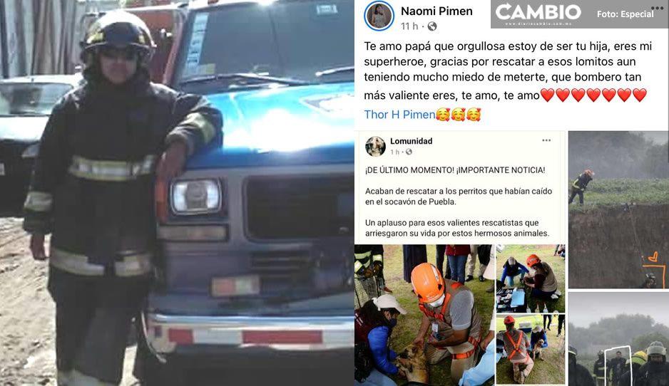 El emotivo mensaje de la hija de bombero héroe: gracias por rescatarlos aunque tenías miedo de entrar