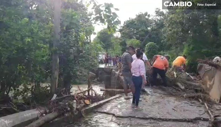 Más de cien viviendas afectadas tras intensa lluvia en la Sierra Norte