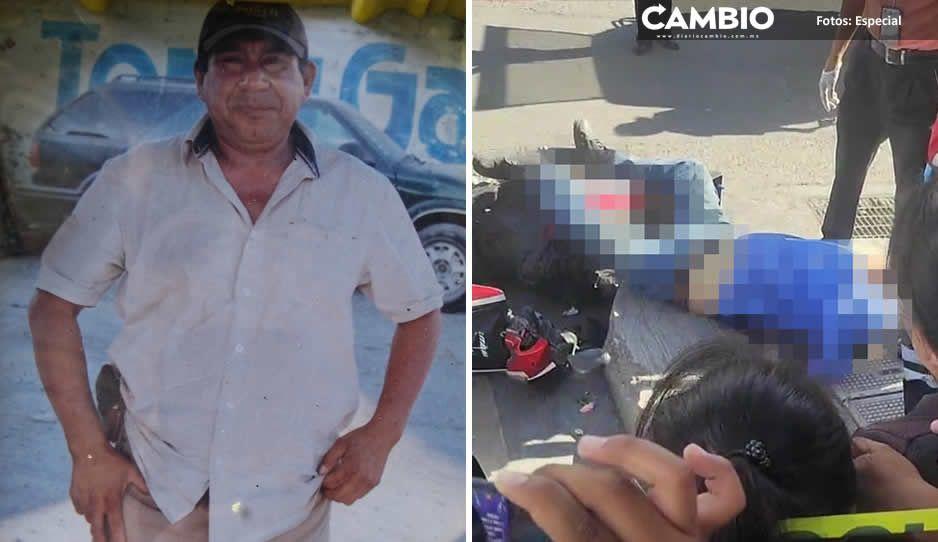 Exigen justicia para Andrés, el hombre atropellado por un policía de Izúcar