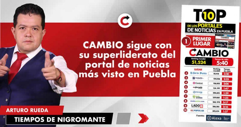 CAMBIO sigue con su superliderato del  portal de noticias más visto en Puebla