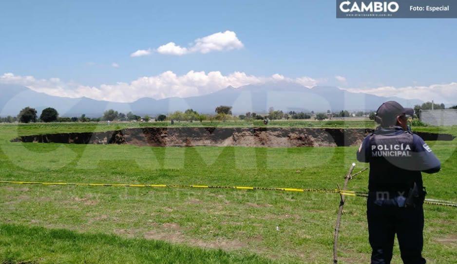 SEMARNAT suspende permisos de impacto ambiental en Juan C. Bonilla por el socavón