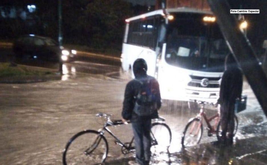 ¡Llueve Puebla! fuerte tormenta inunda Flor del Bosque y el Centro Histórico (FOTOS y VIDEO)