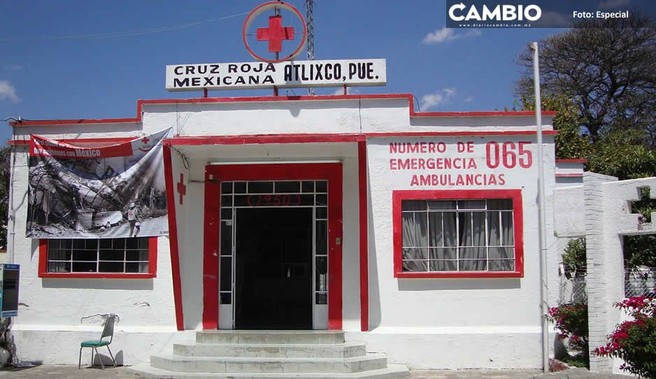 Acusan que administración pasada saqueó a la Cruz Roja en Atlixco