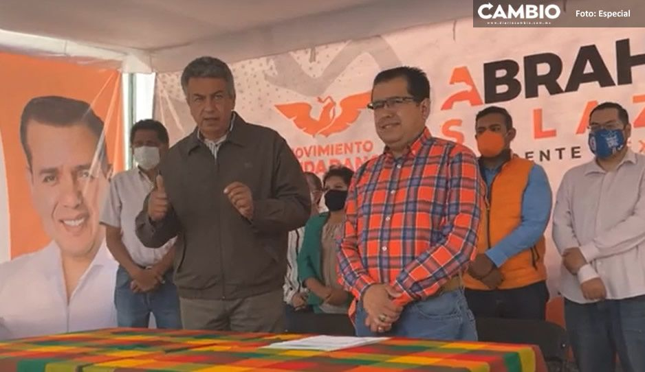 Abraham Salazar candidato de MC acusa recuento amañado, advierte impugnación en Texmelucan (VIDEO)