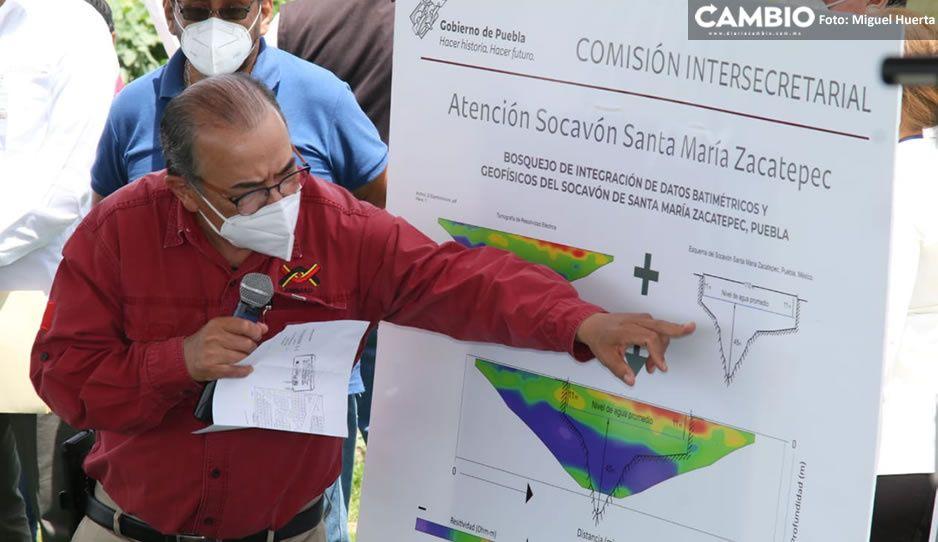 Científicos del IPN dan teorías sobre el origen Socavón de Juan C Bonilla (VIDEO)