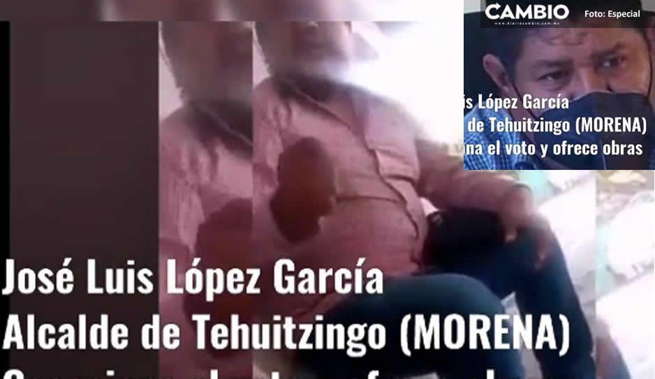 VIDEO: Acusan al edil de Tehuitzingo de ofrecer dinero por votos para candidato del PT al Ayuntamiento