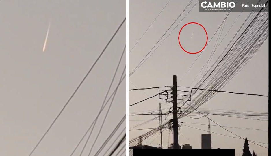 ¡Impactante! Captan meteorito en Puebla (VIDEO)