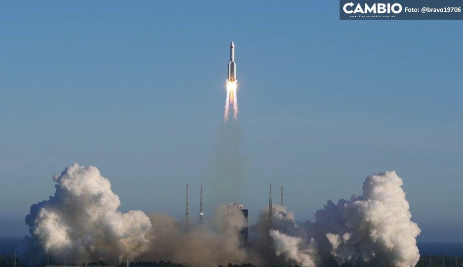 ¡Alerta! Cohete chino fuera de control se dirige a la Tierra (VIDEO)