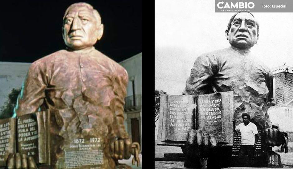 Briagos destruyen a marrazos estatua de Benito Juárez en el Barrio del Artista...en 1973 (FOTOS)