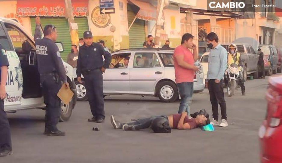Atropellan a motociclista en puente del Boulevard Xonacatepec