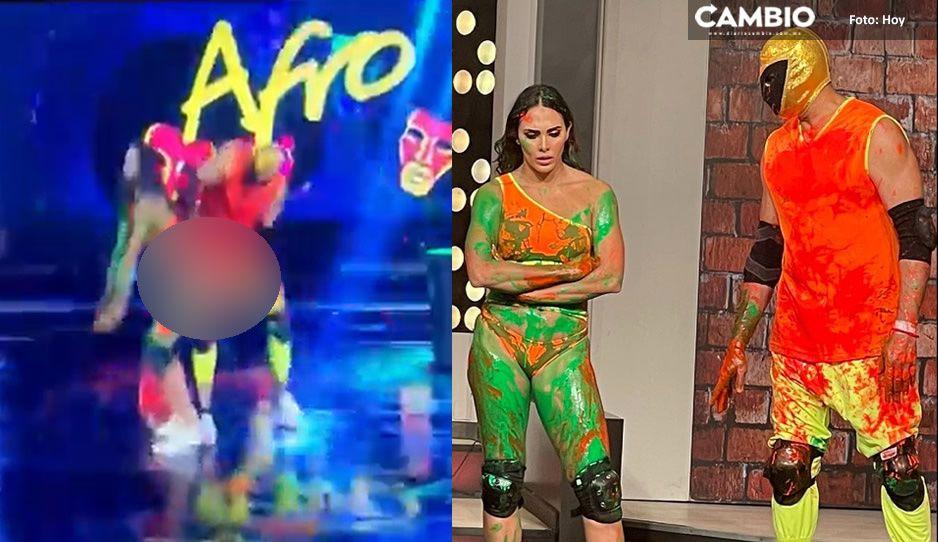 Tinieblas acosador: Macky González se queja de una nalgada durante baile en Hoy (VIDEO)