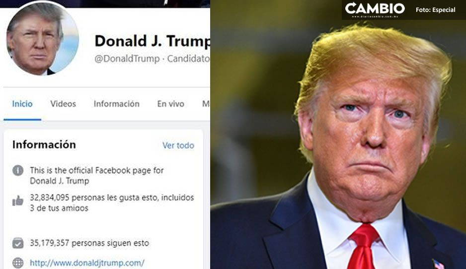 Facebook da su castigo máximo a Donald Trump, le suspende su cuenta por dos años