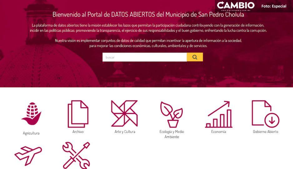 Gobierno de San Pedro Cholula lanza plataforma digital de Datos Abiertos