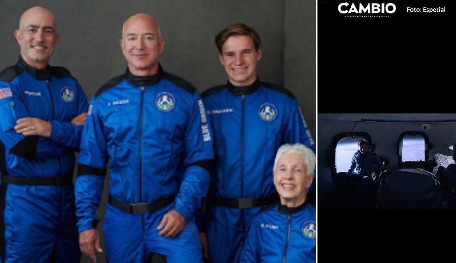 ¡Duró 11 minutos! Así fue el vuelo al espacio del hombre más rico del mundo (VIDEO)