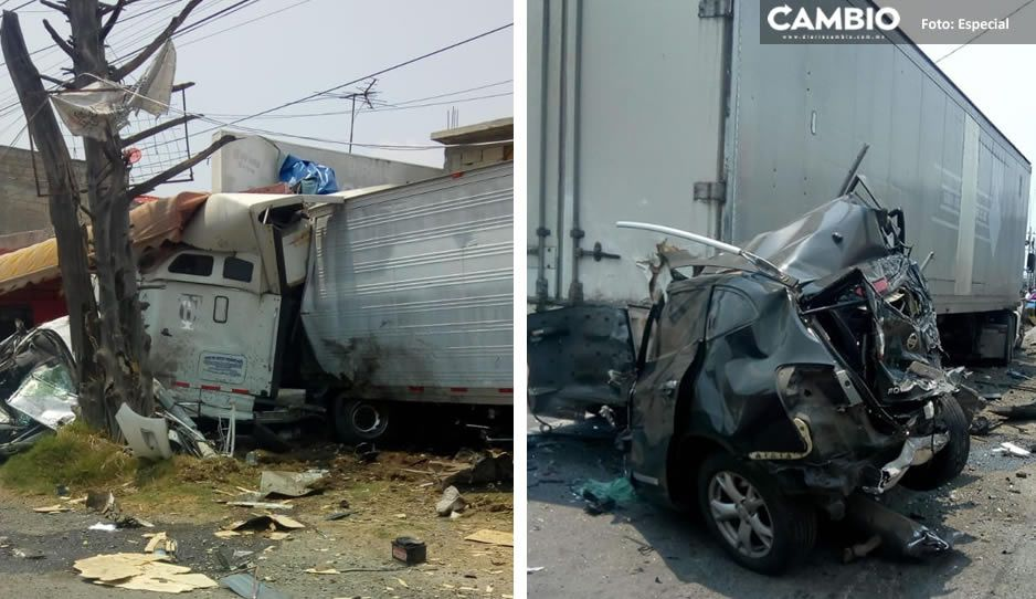 VIDEO: Tráiler de la muerte se impacta contra vehículos estacionados en la México-Toluca