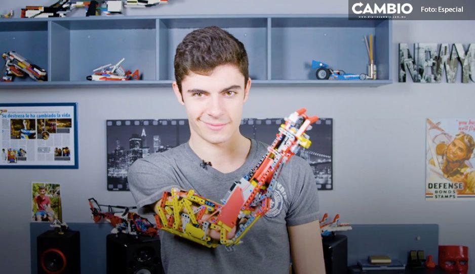 David hace prótesis con piezas de lego a pequeño de 8 años y ¡entra al Récord Guinness! (VIDEO)