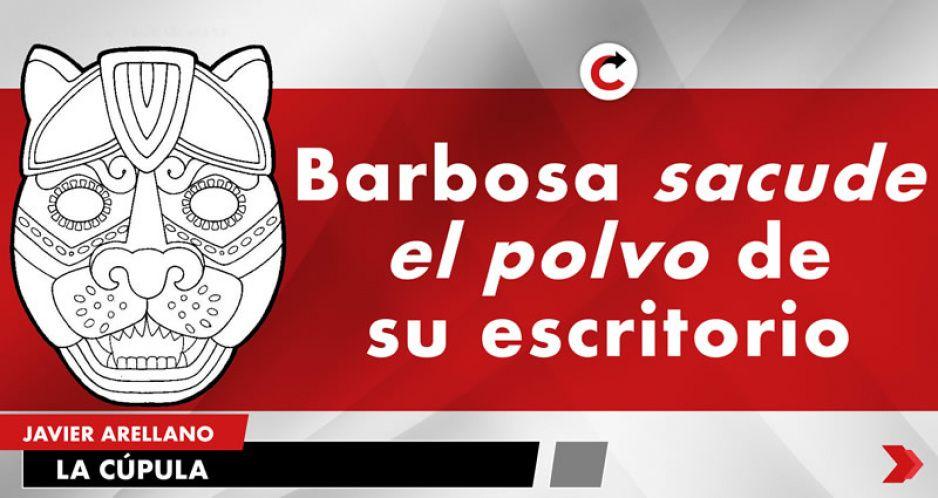 Barbosa sacude el polvo de su escritorio