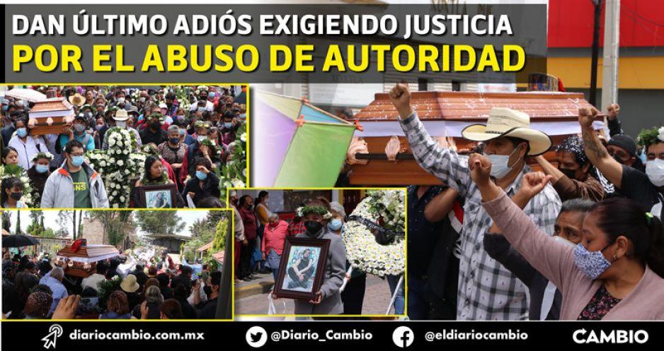 Sepultan a Juan Carlos en Xoxtla al grito de ¡no se suicidó, la policía lo mató! (FOTOS Y VIDEO)