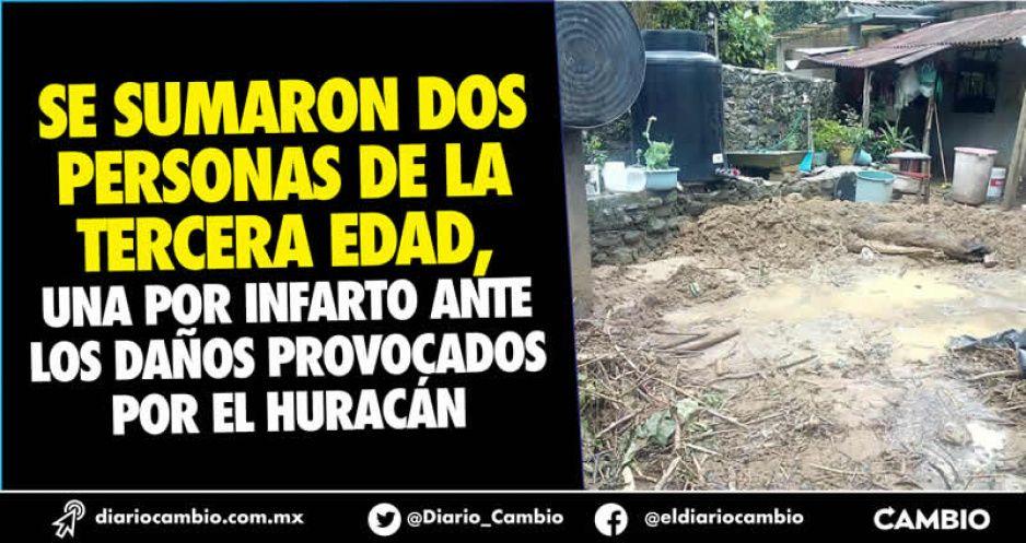 Grace deja cinco muertos a su paso por la Sierra Norte de Puebla (VIDEO)