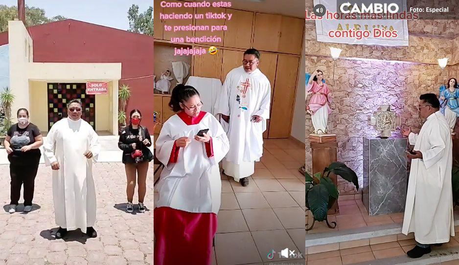 Conoce al padre Cheke, sacerdote poblano tiktokero que hasta baila (VIDEO)
