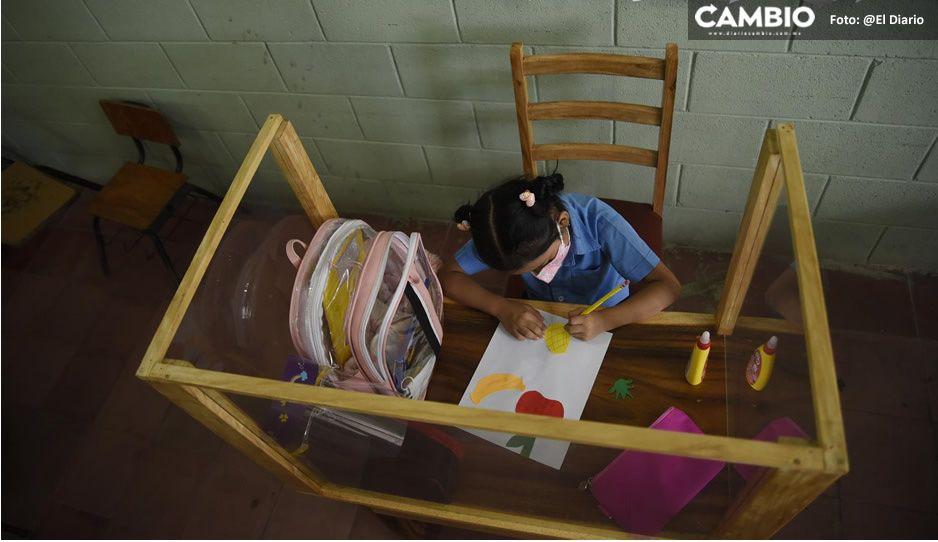 Papá crea pupitre antiCovid para proteger a su hija por regreso a clases presenciales