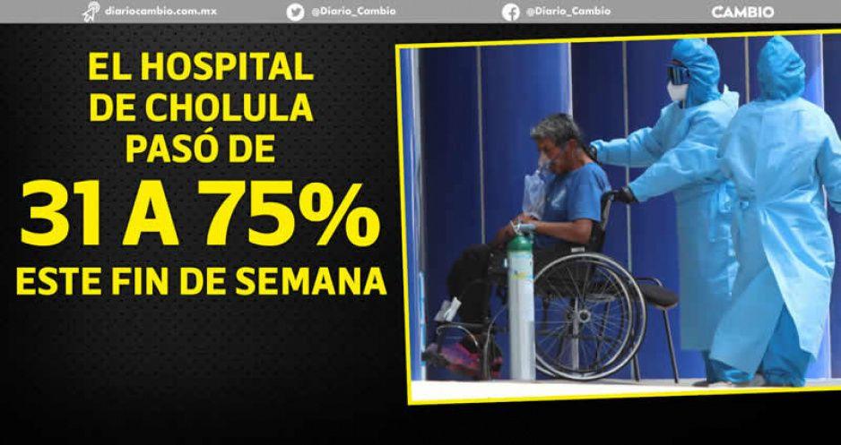 Hospitales poblanos duplican su ocupación en tercera oleada, pero aún no se saturan