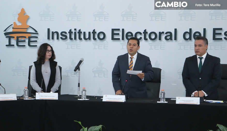 IEE da prórroga hasta el 13 de abril para registro de candidaturas a alcaldes y diputaciones