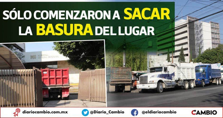 Sigue la faramalla con camiones de volteo para simular el derrumbe de San Alejandro (FOTOS Y VIDEO)