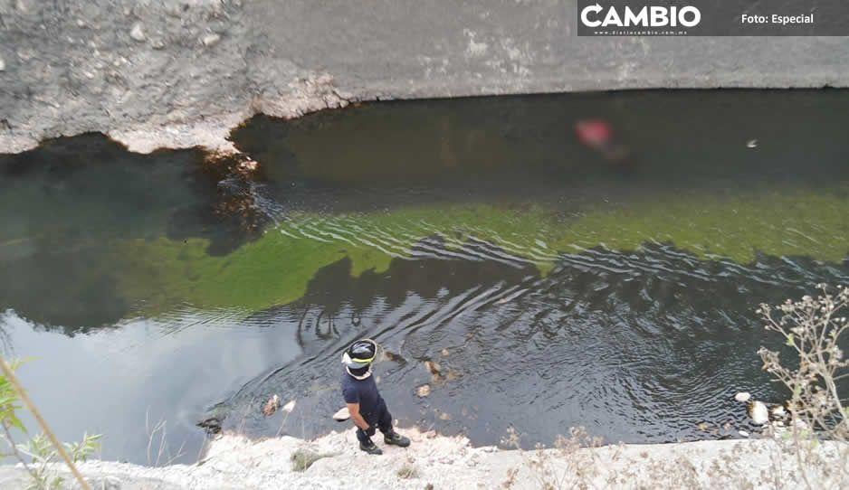 Encuentran a hombre flotando en el lago de Valsequillo, indagan homicidio (FOTOS)