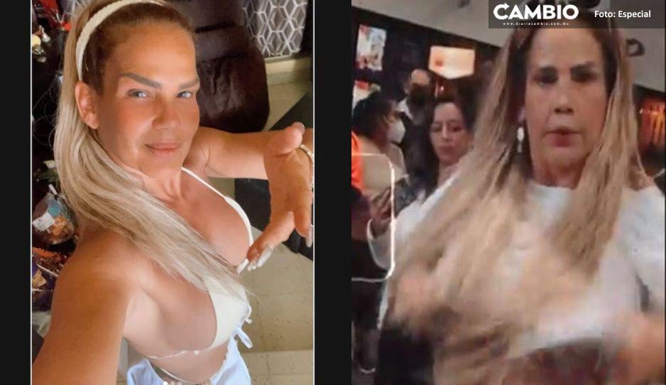 ¡Niurka no tiene pudor! Se levantan la blusa en pleno aeropuerto (VIDEO)
