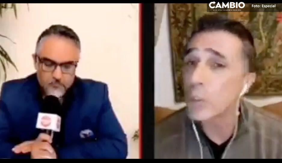 Sergio Mayer regaña a Vicente Serrano en entrevista: tu problema es que tomas posturas radicales (VIDEO)