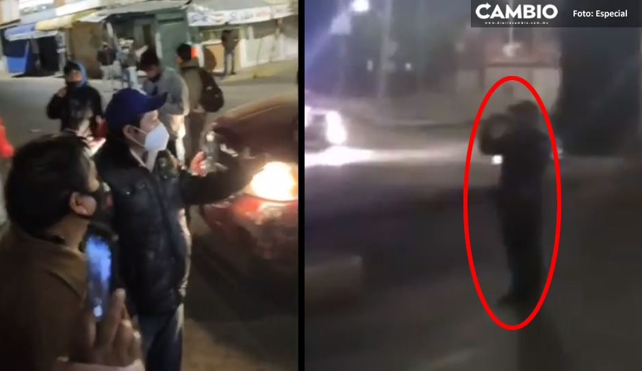 Personal de la Segom espía las guardias nocturnas del Mercado Amalucan para dar el gran golpe (VIDEO)