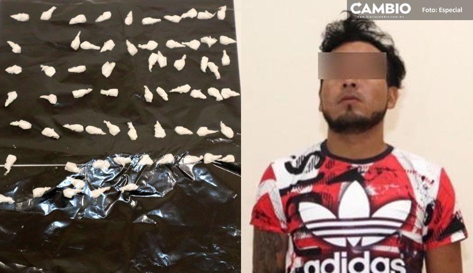 A bordo de un Mazda y con 65 paquetitos de droga detienen a Raúl en San José el Conde
