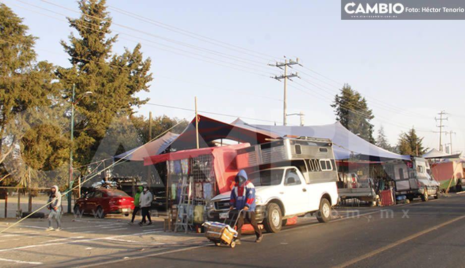 FOTOS: Así luce la reactivación del tianguis de Texmelucan con el 20 % de comerciantes