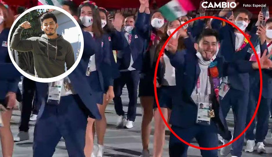 Él es el mexicano que se quitó el cubrebocas en el desfile de Tokio 2020  (VIDEO)