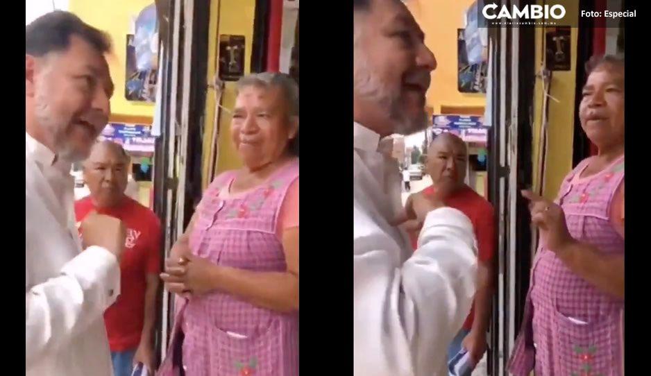 Critican a Noroña por gritarle a pareja de abuelitos que expresaron su inconformidad con él (VIDEO)