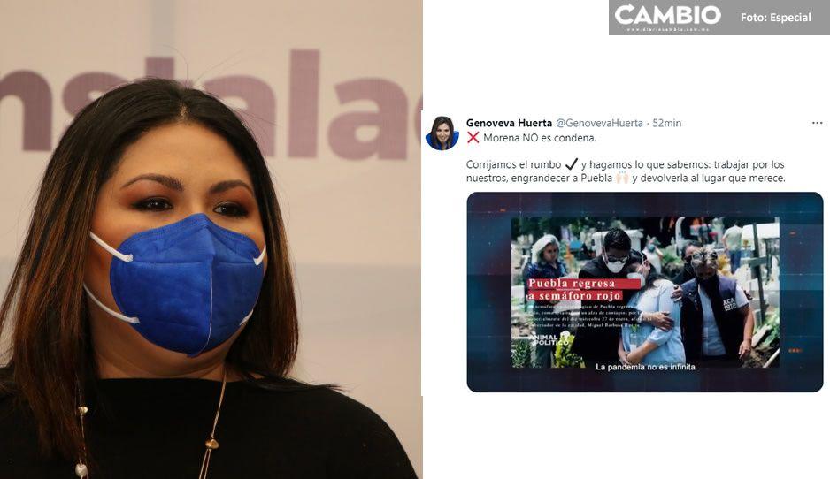 Genoveva calienta la elección: utiliza redes para lanzar ataque vs Morena
