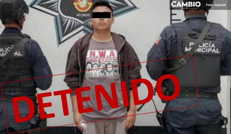 Detienen a hombre por presunta venta de droga en Atlixco ¡intentó fugarse!