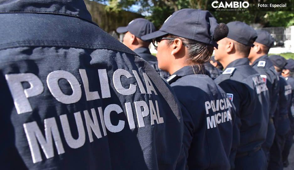 Policías de Serdán declaran paro de labores; acusan que edil Carlos Tentle no les ha pagado