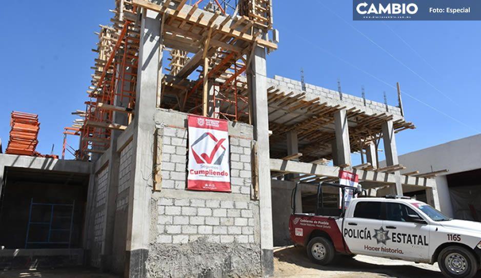 La construcción del CERI- CAS lleva un avance del 60 por cierto en Texmelucan