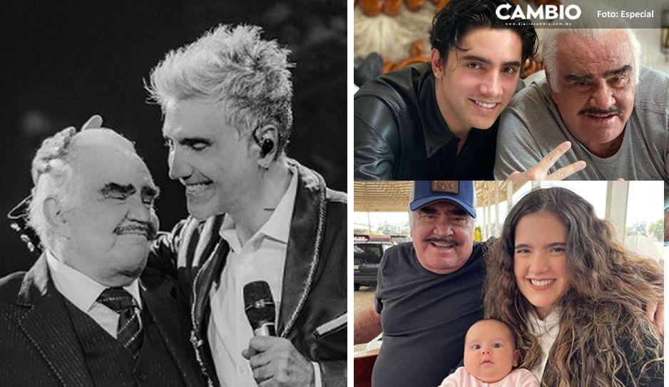 Estos fueron los emotivos mensajes para Vicente Fernández de su familia