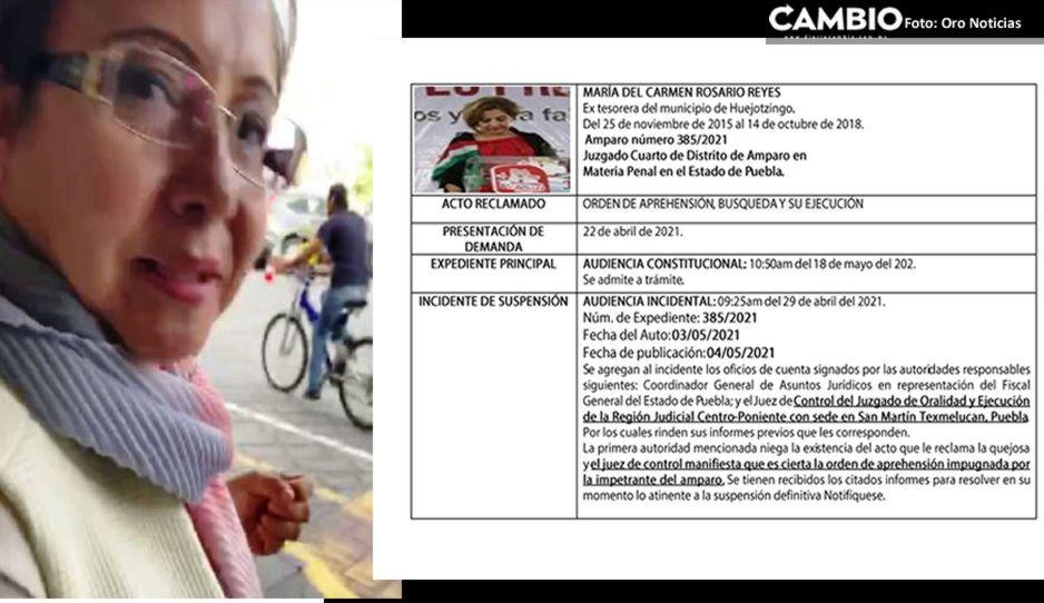 Ex tesorera de Huejotzingo se ampara para evitar detención por peculado, abuso de autoridad y asociación delictuosa